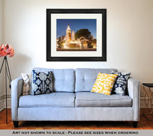 Load image into Gallery viewer, Framed Print, Kansas City Missouri Fountain At Country Club Plaza