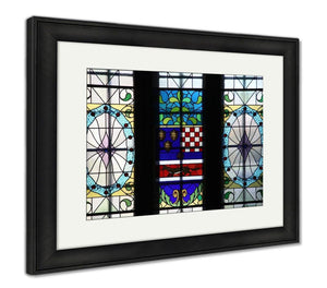 Framed Print, Croatian National State Archives Building In Zagreb