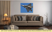 Load image into Gallery viewer, Gallery Wrapped Canvas, F22 Raptor With Weapons Bay Deployed