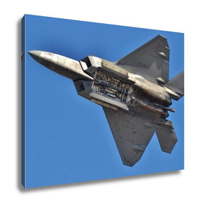 Gallery Wrapped Canvas, F22 Raptor With Weapons Bay Deployed