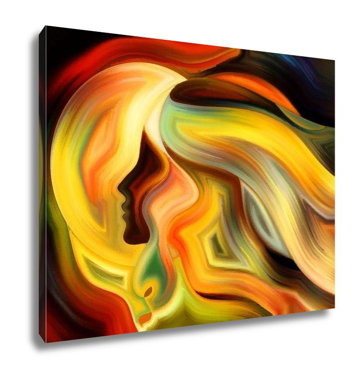 Gallery Wrapped Canvas, Abstract Expressionism Game Of Inner Paint