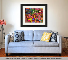 Load image into Gallery viewer, Framed Print, Abstract Diverse Faces