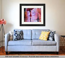 Load image into Gallery viewer, Framed Print, Woman In Red