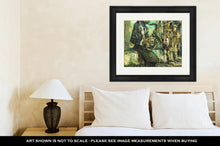 Load image into Gallery viewer, Framed Print, Street Musician Original Oil Painting On Canvas Impressionism Relief Drawing
