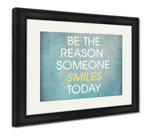 Framed Print, Inspirational Quote By Unknown Source On Blue Grunge