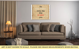 Gallery Wrapped Canvas, Inspirational Motivating Quote On Old Paper