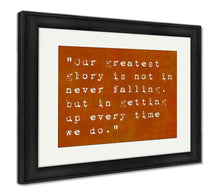 Load image into Gallery viewer, Framed Print, Inspirational Quote By Seneca On Earthy