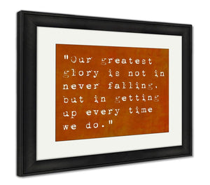 Framed Print, Inspirational Quote By Seneca On Earthy