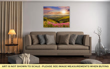 Load image into Gallery viewer, Gallery Wrapped Canvas, Wild Flowers On The Mountain Top At Sunset