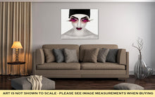 Load image into Gallery viewer, Gallery Wrapped Canvas, Face Art Fantastic Make Up Luxury Feather Eyelashes Surrealism