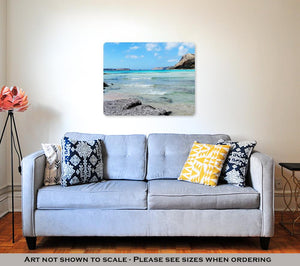 Metal Panel Print, Coastline Landscape Of Meditrannean Sea Crete Island Greece
