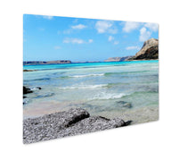 Load image into Gallery viewer, Metal Panel Print, Coastline Landscape Of Meditrannean Sea Crete Island Greece