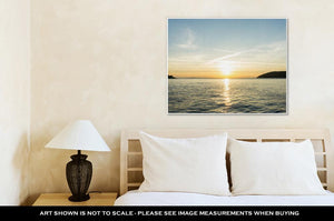 Gallery Wrapped Canvas, Sunrise Sunset At Sea Wallpaper