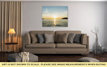 Load image into Gallery viewer, Gallery Wrapped Canvas, Sunrise Sunset At Sea Wallpaper