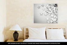 Load image into Gallery viewer, Gallery Wrapped Canvas, Silver Stars Spilling Out On White Surface Intentionally Shot In Surreal Tone