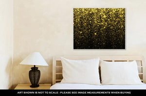 Gallery Wrapped Canvas, Gold Sparkle Glitter Glitter Stars Sparkling Flow