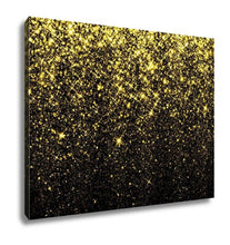 Load image into Gallery viewer, Gallery Wrapped Canvas, Gold Sparkle Glitter Glitter Stars Sparkling Flow