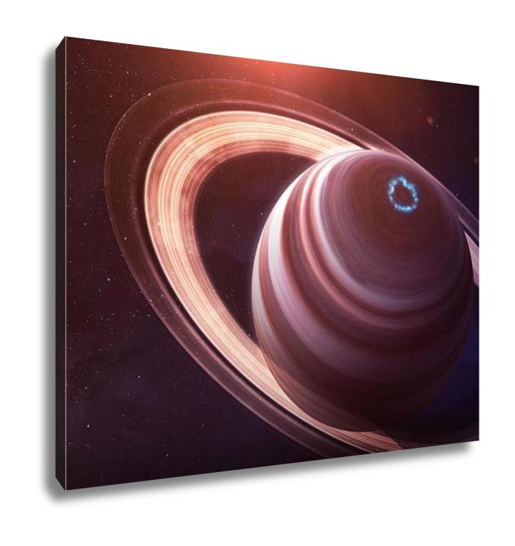 Gallery Wrapped Canvas, Saturn High Resolution Best Quality Solar System Planet All The Planets