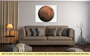 Gallery Wrapped Canvas, Solar System Mars Isolated Planet On White