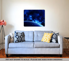 Load image into Gallery viewer, Metal Panel Print, A Beautiful Space Scene With Sun Planets And Nebula Elements Of This Image