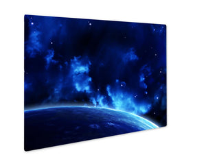 Metal Panel Print, A Beautiful Space Scene With Sun Planets And Nebula Elements Of This Image