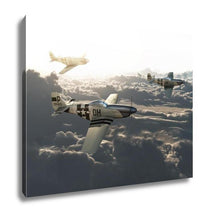 Load image into Gallery viewer, Gallery Wrapped Canvas, P51 Vintage Mustangs