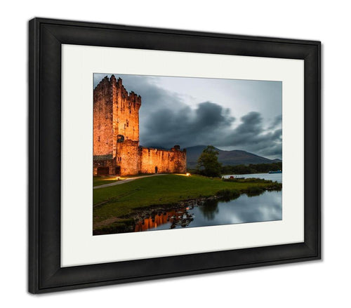 Framed Print, Medieval Irish Castle