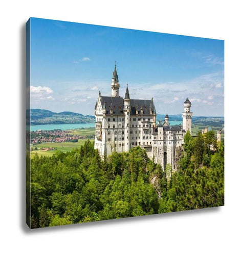 Gallery Wrapped Canvas, Neuschwanstein Castle In The Bavarian Alps Germany