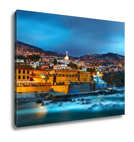 Gallery Wrapped Canvas, View Of Old Castle Fortaleza De Sao Tiago Funchal Madeira Portugal