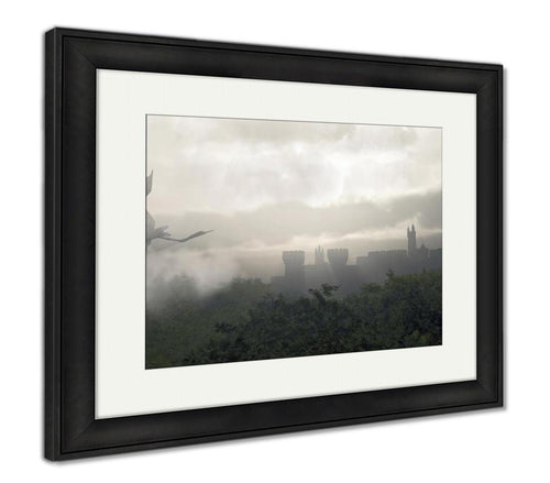 Framed Print, Misty Fantasy Forest