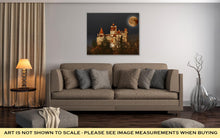 Load image into Gallery viewer, Gallery Wrapped Canvas, Bran Castle Count Draculas Castle On Full Moon Transylvania Romania