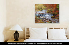 Load image into Gallery viewer, Gallery Wrapped Canvas, Waterfall In Autumn Forest Beautiful Nature