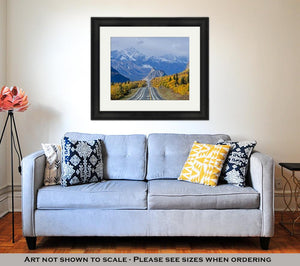 Framed Print, Lions Head Along The Glenn Highway In Alaska