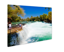 Load image into Gallery viewer, Metal Panel Print, Antalywaterfall Manavgat At Turkey Nature Travel