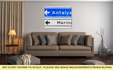 Load image into Gallery viewer, Gallery Wrapped Canvas, Road Sign Antalya Marina Isolated