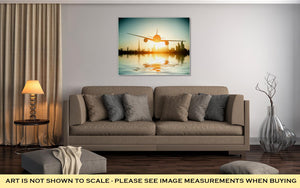 Gallery Wrapped Canvas, Dubai Plane Flies On Beautiful Beach Se United Arab Emirates