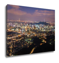 Load image into Gallery viewer, Gallery Wrapped Canvas, Seoul City Skyline South Korea