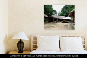 Gallery Wrapped Canvas, Korean Village In Summer By Eyes Of Tourist