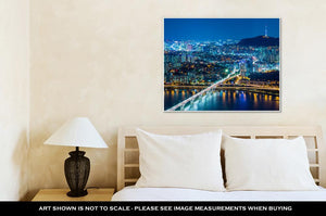 Gallery Wrapped Canvas, Seoul City At Night