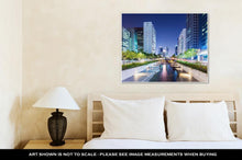 Load image into Gallery viewer, Gallery Wrapped Canvas, Cheonggyecheon In Seoul City