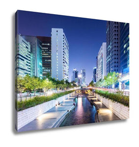 Gallery Wrapped Canvas, Cheonggyecheon In Seoul City
