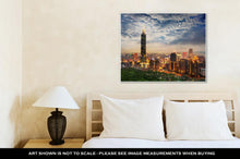 Load image into Gallery viewer, Gallery Wrapped Canvas, Taipei Taiwan Evening Skyline