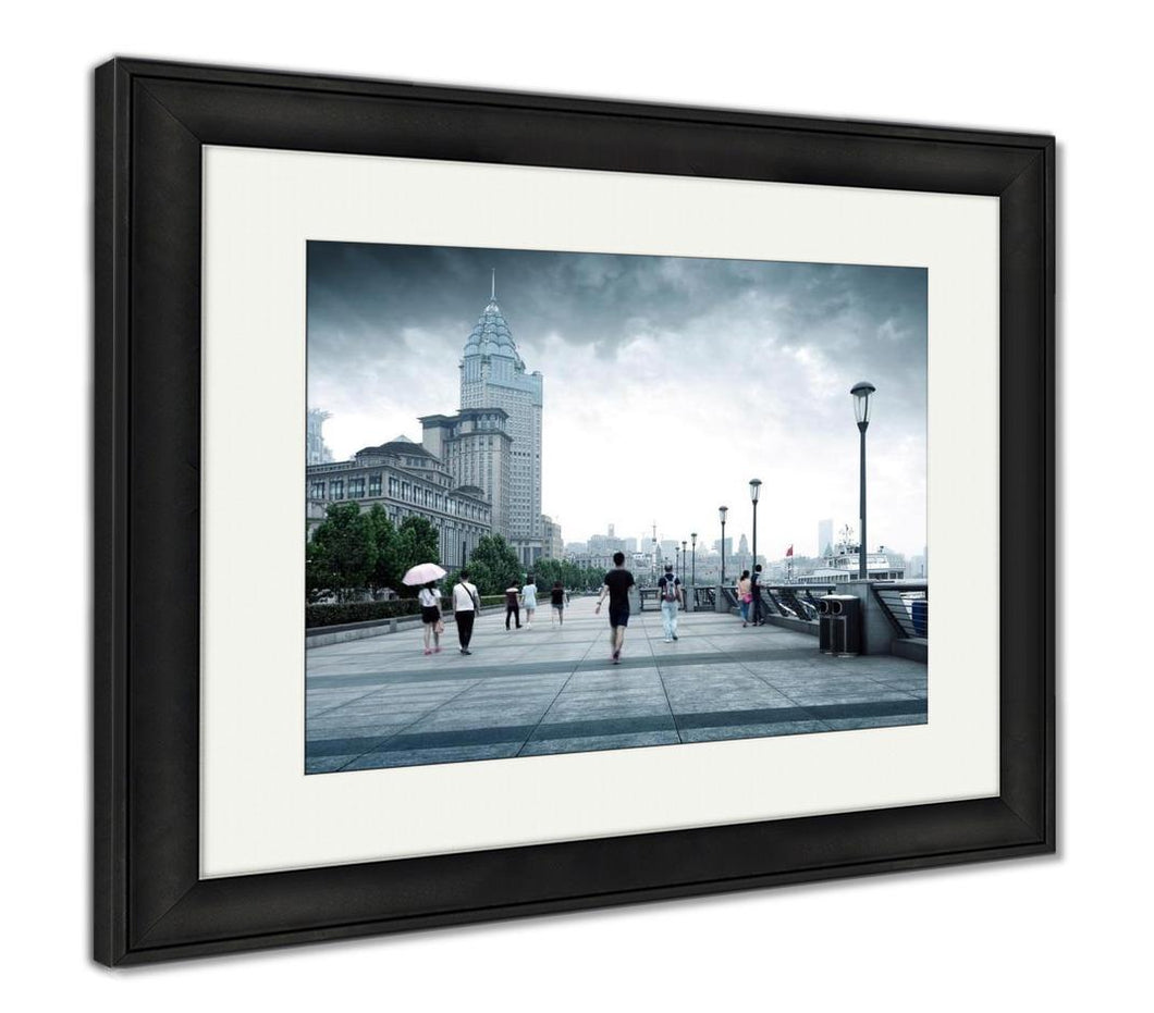 Framed Print, Bund In Shanghai China