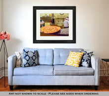 Load image into Gallery viewer, Framed Print, Pizza On The Shelf Inside Italian Restaurant