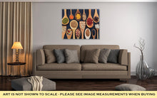 Load image into Gallery viewer, Gallery Wrapped Canvas, Various Legumes In Wooden Spoons