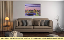 Load image into Gallery viewer, Gallery Wrapped Canvas, Tokyo Japan Skyline With Rainbow Bridge And Tokyo Tower