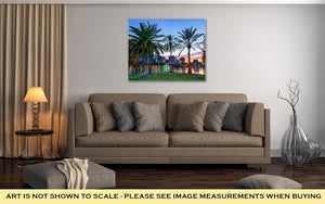 Gallery Wrapped Canvas, Orlando Floridusdowntown Skyline At Eollake