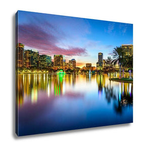 Gallery Wrapped Canvas, Orlando Florida Skyline