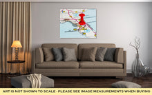 Load image into Gallery viewer, Gallery Wrapped Canvas, Tampa Florida USA Map