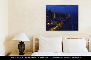 Gallery Wrapped Canvas, Fort Lauderdale Night View Florida